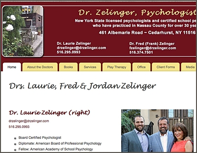 Drs. Laurie, Fred and Jordan Zelinger, Psychologists